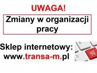 Uwaga! Zmiany w organizacji pracy naszej firmy!