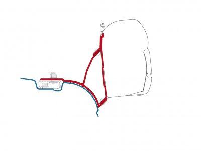 ADAPTER VW T5 T6 TRANSPORTER MULTIVAN MARKIZA FIAMMA F45S